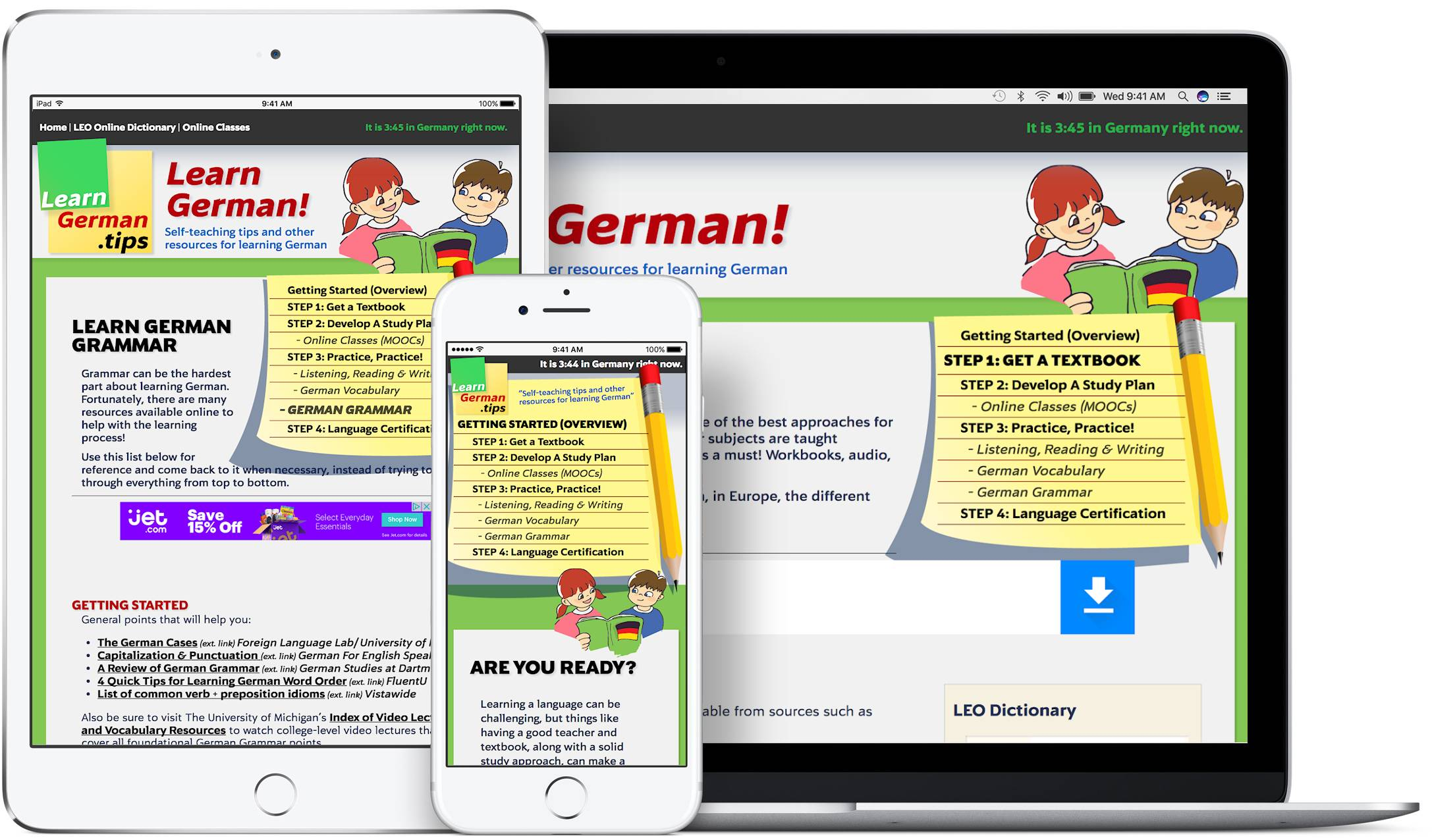 LearnGerman<wbr>.tips screenshots